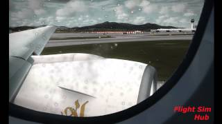 FSX Realistic Takeoff from Athens Greece (Window View) HD