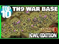 Best Town Hall 9 War Base   Anti All   Clash Of Clans - TH 9 War Base 🔥