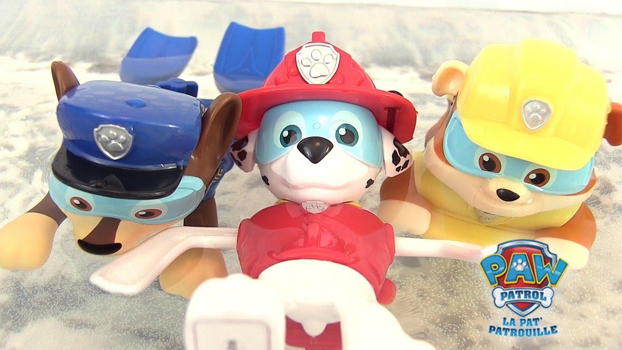 Pate A Modeler Pour Le Bain la pat' patrouille jouets de bain nageurs paw patrol paddlin' pups