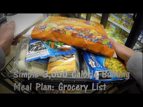 simple-3,000-calorie-bulking-meal-plan:-grocery-list