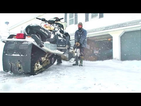 RECOVERING MY BURNT SNOWMOBILE (AFTER CATCHING ON FIRE)