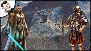 Massive 500 Jedi v 40000 Romans Battle - Ultimate Epic Battle Simulator Gameplay 1.1