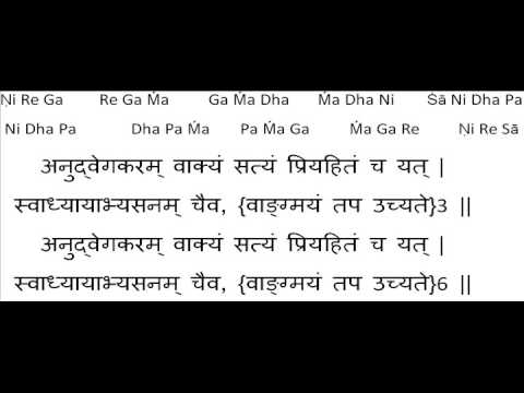 Sanskrit shlokas for morning prayer, first of trikaal sandhya.