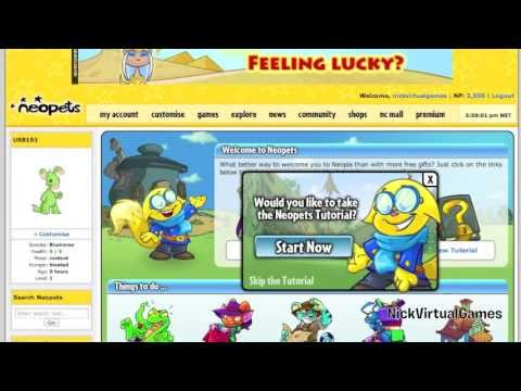 Neopets: The Welcome Page (PLUS! FREE NC Tutorial)