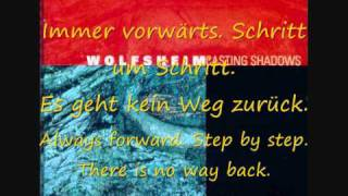 Wolfsheim-Kein weg zurück lyrics+english translation