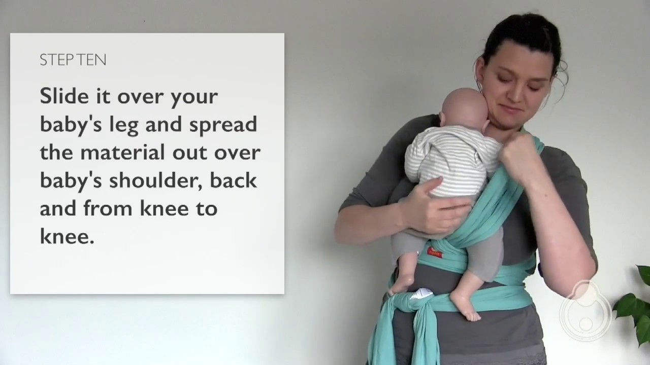 How To Tie Your Hana Baby Wrap Youtube