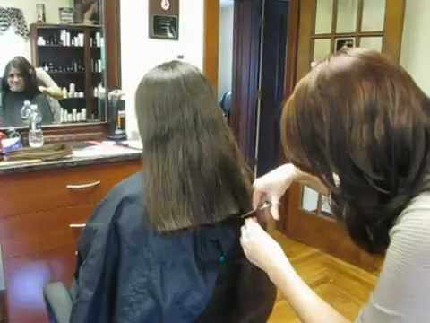 cutting style for long hair she cut all hair to donate 7815 | hqdefault