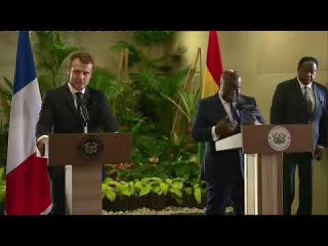 VIDEO: Conférence de presse de Macron avec Nana Akufo-Addo le président le president du ghana