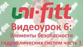 UNI FITT Видеоурок 6: Безопасность гидросистем часть 1