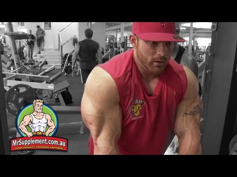 Flex Lewis Demonstrates The Smith Machine Tricep Extension - Exercise #3