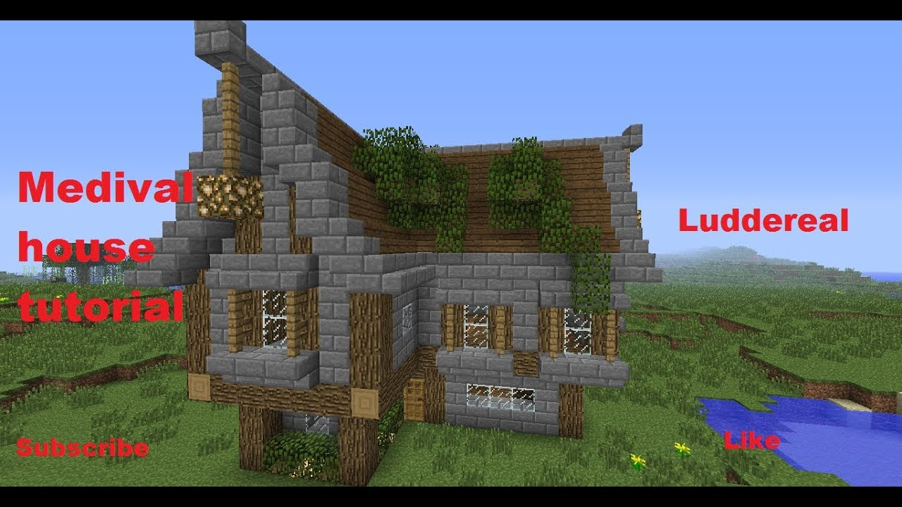 Minecraft medieval style building tutorial part 3 youtube for What to do to build a house