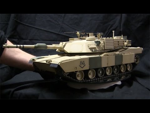 RC 1/16th scale HL M1A2 Abrams Commission Build Model Showcase Video
