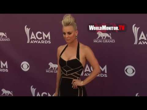 Kaley Cuoco arrives at The 48th Annual Academy of Country Music Awards