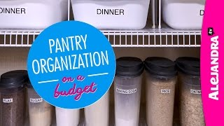 Pantry Organization On A Budget (part 1 Of 4 Dollar Store Organizing)