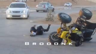Insane Stunts ATV Yamaha Raptor 700, 660 Banshee 350, and crashed