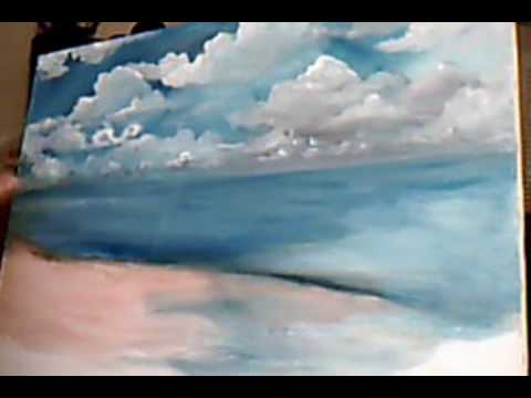Youtube Painting Clouds With Acrylics