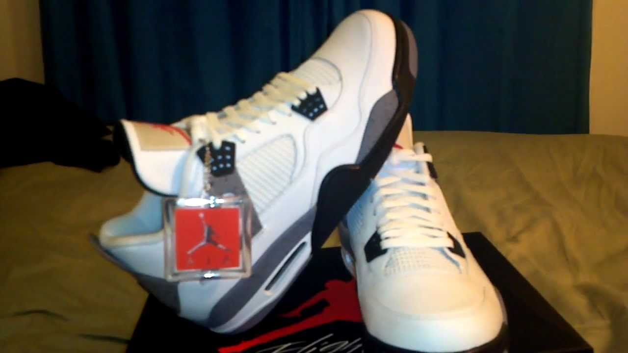 Air Jordan 4 Retro White Cement 2012 Unboxing Review HD - YouTube cee69fbd4