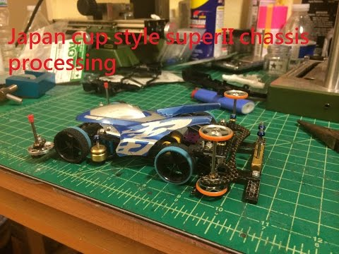 Tamiya Mini 4wd Japan Cup style Super II chassis build up full processing 1/2