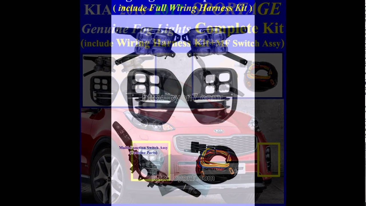 2016 2017 kia sportage led fog light lamp complete kit wiring rh youtube com