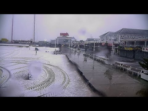 OCEAN CITY MARYLAND BOARDWALK SPRING SNOWFALL