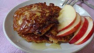 ФИТНЕС РЕЦЕПТ/вкусный и полезный завтрак *яблочные оладьи*/