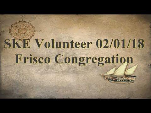 SKE Volunteer 020118 Frisco Congregation