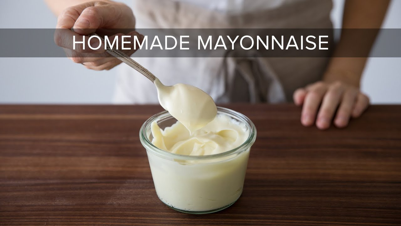 HOW TO MAKE MAYONNAISE | easy mayo recipe with stick blender