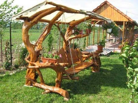 Creative garden swing ideas