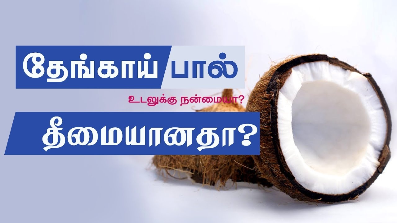 Is coconut milk good for you? Coconut milk health benefits in Tamil -  Health Tips