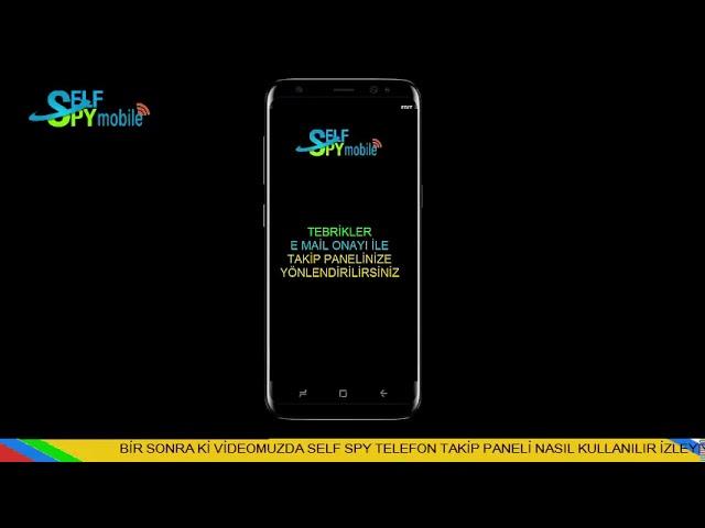 SelfSPY Telefon Takip Programı E mail Onayı Nasıl Yapılır