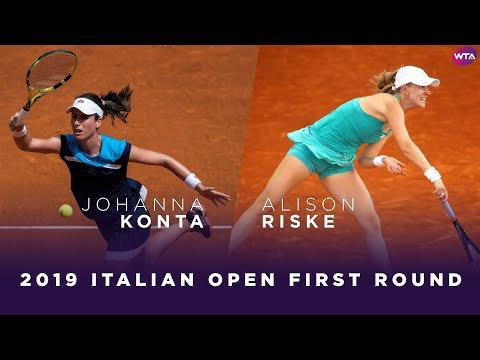 Johanna Konta vs. Alison Riske | 2019 Italian Open First Round | WTA Highlights
