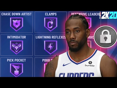 NBA 2k20 Best Build Kawhi Leonard Faciliting Finisher OVERPOWERED