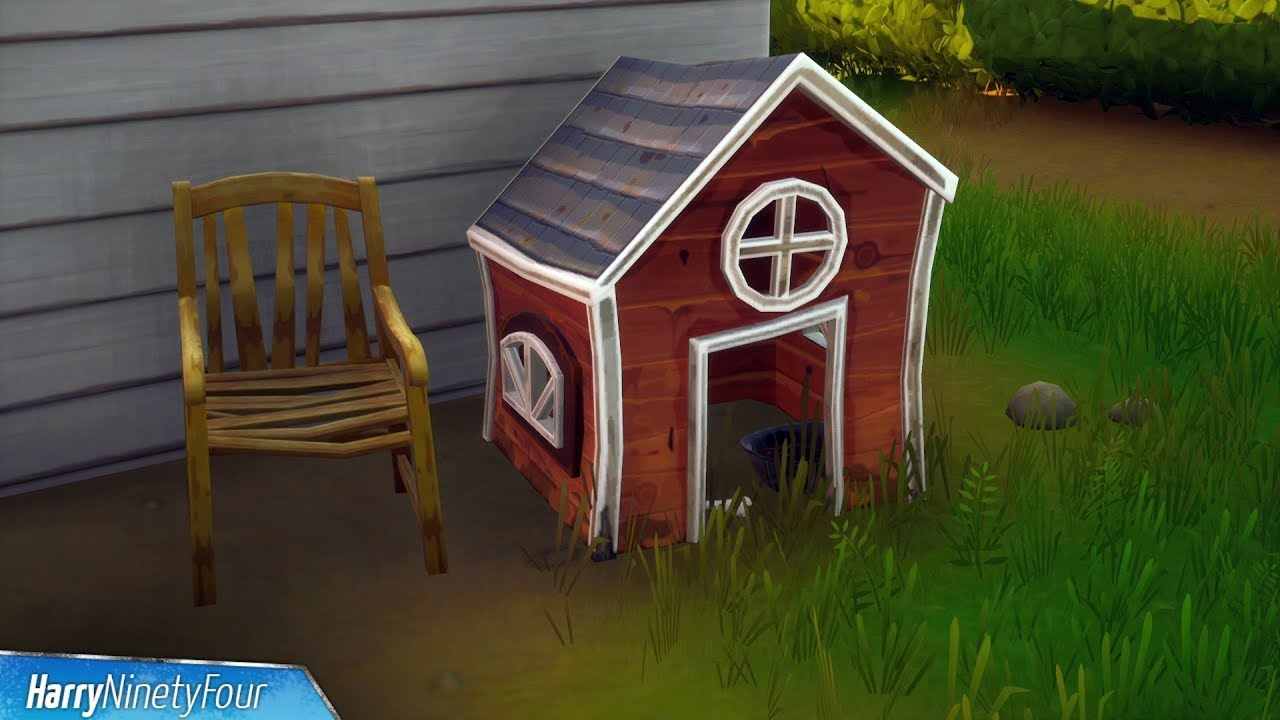 Destroy Dog Houses All Locations Fortnite Challenge Youtube