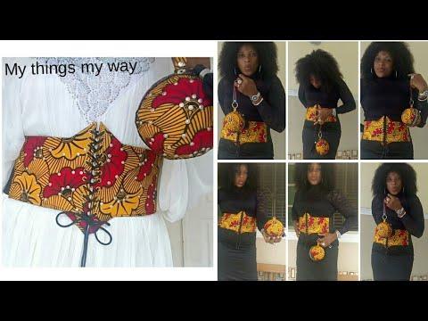 DIY Ankara corset belt // elastic Ankara corset