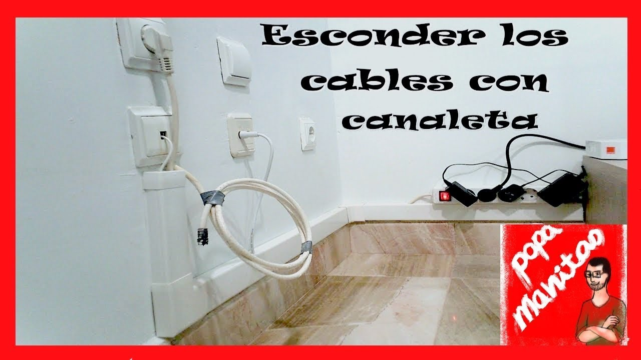 Ocultar los cables con una canaleta hide wires with a - Canaletas para cables de red ...