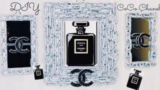Dollar Tree DIY CoCo Chanel Perfume 3'Set Chain Links Mirrors Wall Decor 2019