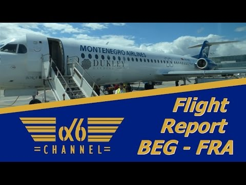 Flight Report | Montenegro Airlines | Embraer 190 & Fokker 100 Economy class Belgrade - Frankfurt