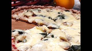 Диетическая грибная пицца из цельнозерновой муки