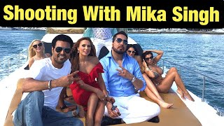 Shooting With Mika Singh Bollywood Singer Mika Singh  Ndian Vlogger