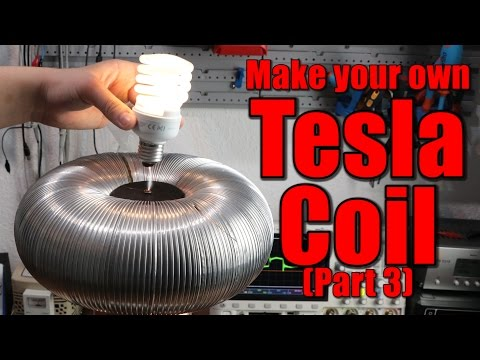 Make your own Tesla Coil (Part 3) || Playing Music, Feedback, DRSSTC