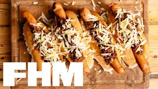 How to make DJ BBQ's Chilli Con Carnage Cheese Dogs