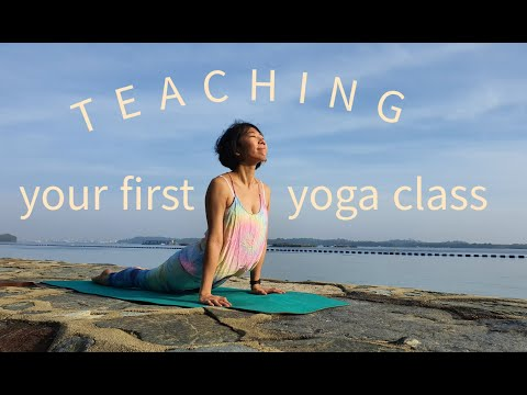 Tips to be less nervous teaching your first yoga class.