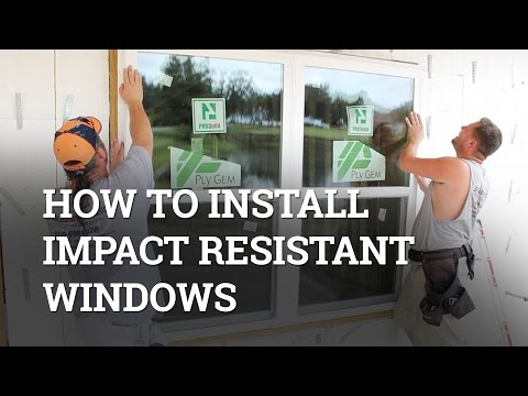 How To Properly Install Impact Resistant Windows In New Construction