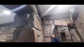 Ванная комната полностью из дикого камня !!! часть вторая, покраска !!!