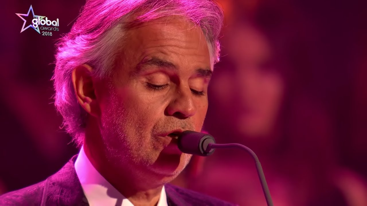 Andrea Bocelli Time To Say Goodbye Live The Global Awards 2018 Classic Fm Youtube