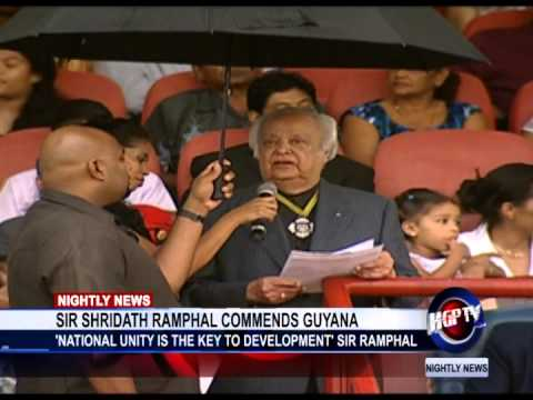 SIR SHRIDATH RAMPHAL COMMENDS GUYANA