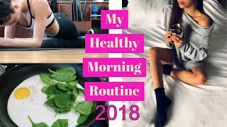 My HEALTHY New Year MORNING ROUTINE with GYM + BREAKFAST // TessaRenéeTR