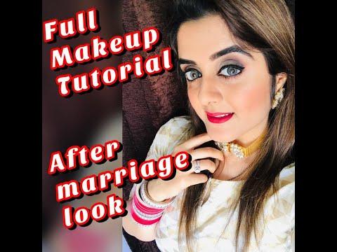full-makeup-tutorial- traditional-look- party-makeup- -after-marriage-makeup💓