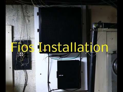 Fios Installation  YouTube