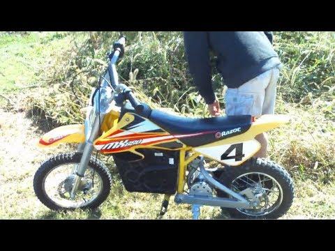 Razor MX 650 Dirt Bike Kid Finds Dinosaur Turd